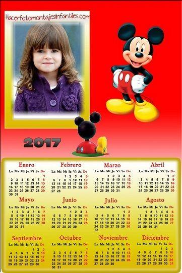 Fotomontaje de mickey calendarios 2017 calendarios 2017 - Calendarios navidenos personalizados ...