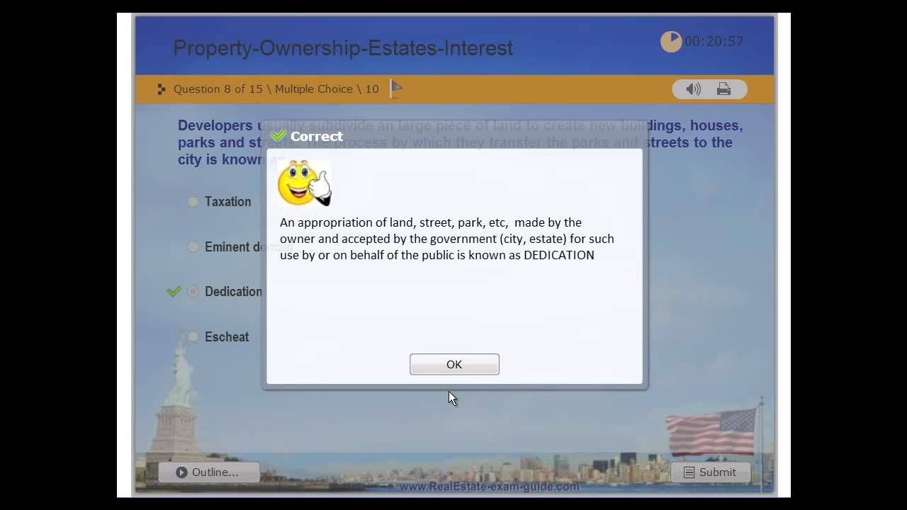 Real Estate License Practice Exam 2 Property Ownership