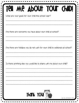 Parent Questionnaire Freebie Parent Questionnaire Parenting Preschoolers Parenting
