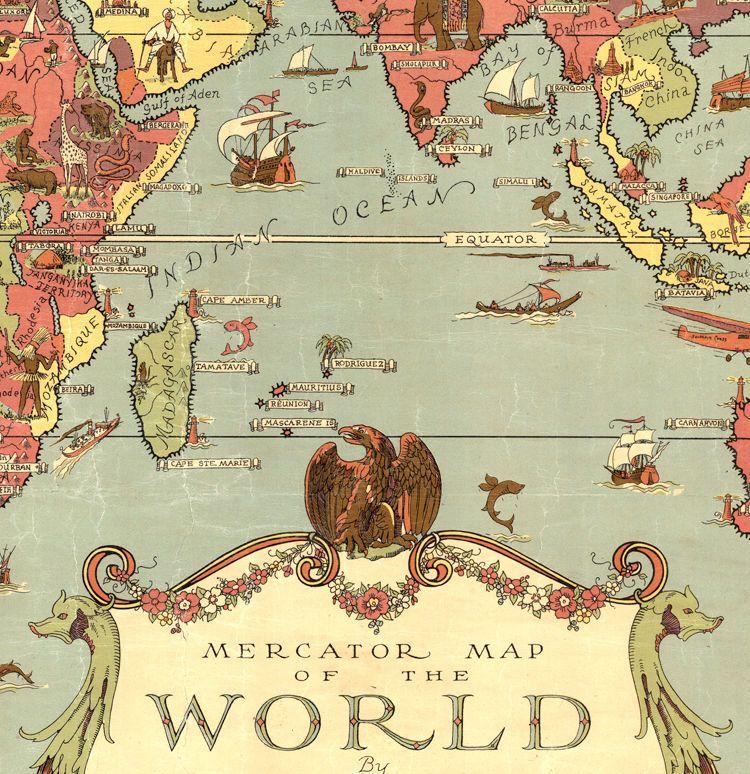 Old world map world vintage poster world maps pinterest old world map world vintage poster product image gumiabroncs Images