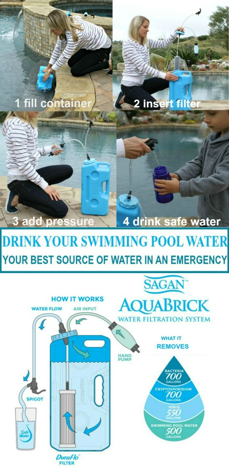Water in case of emergency drink your pool water swimming pools pool water and water How to make swimming pool water drinkable