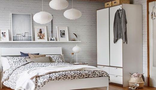 Kleiderschrank mit Schiebetür und 4 Schubladen, TRYSIL