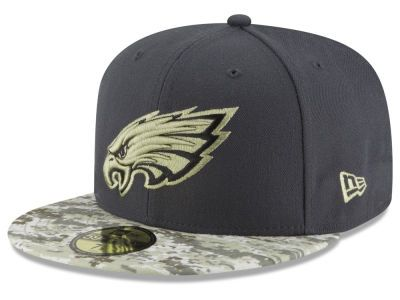 Philadelphia Eagles New Era NFL Salute to Service Official 59FIFTY ... c0172bedb22