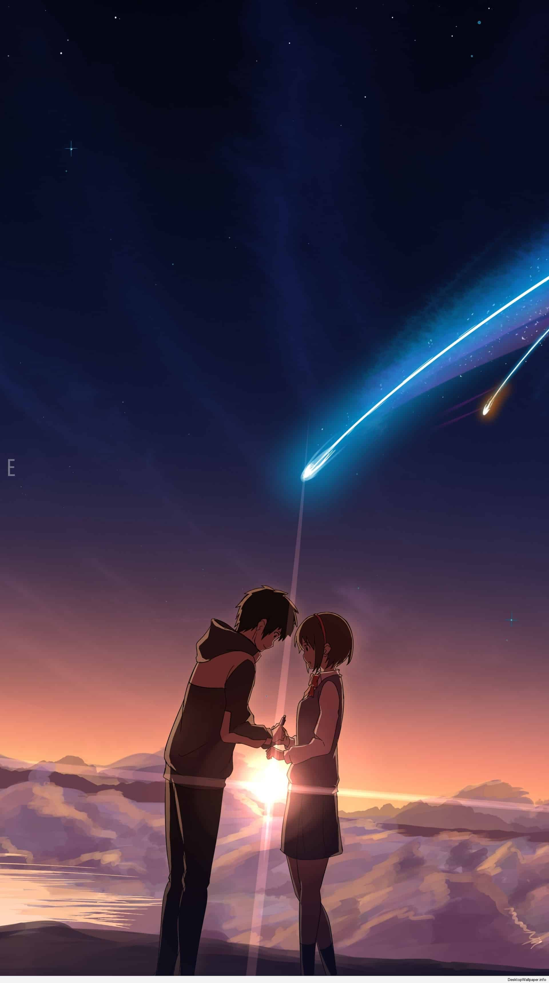 Your Name Wallpaper Iphone Xr : wallpaper, iphone, Wallpaper, Iphone, Pemandangan, Anime,, Khayalan,