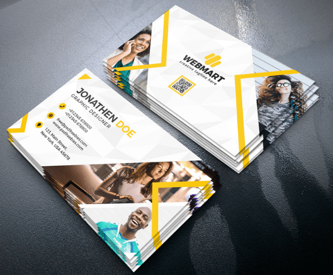 Clean Business Card Free Psd Template Pixelsdesign Net Free Business Cards Cleaning Business Cards Business Card Psd