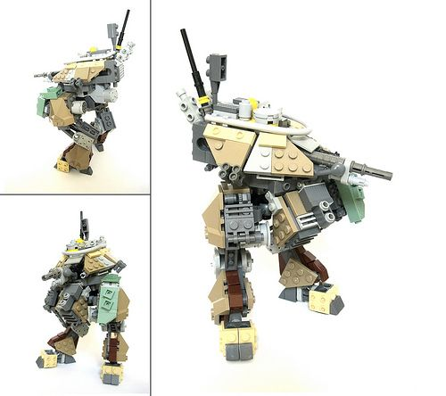 LEGO vertical tank