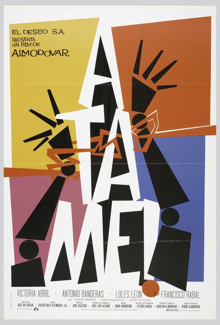 "Juan Gatti, Film Poster, ""Tie Me Up! Tie Me Down!"" by Almodóvar, 1989"