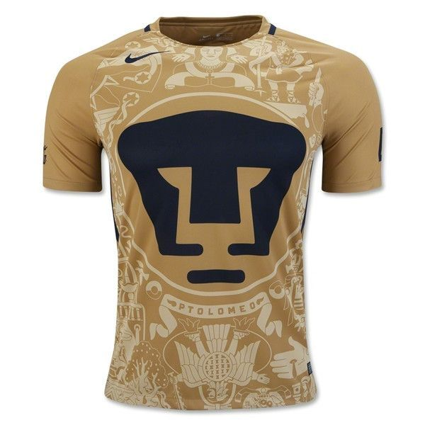 low priced caf10 097dd Nike UNAM Pumas 16/17 Home Soccer Jersey (Gold/Navy ...
