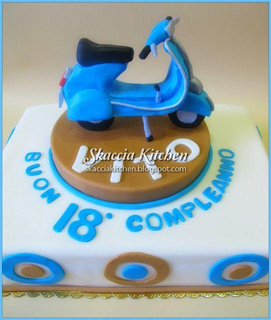 Vespa Cake cakes for boys Pinterest Vespa cake Cake and