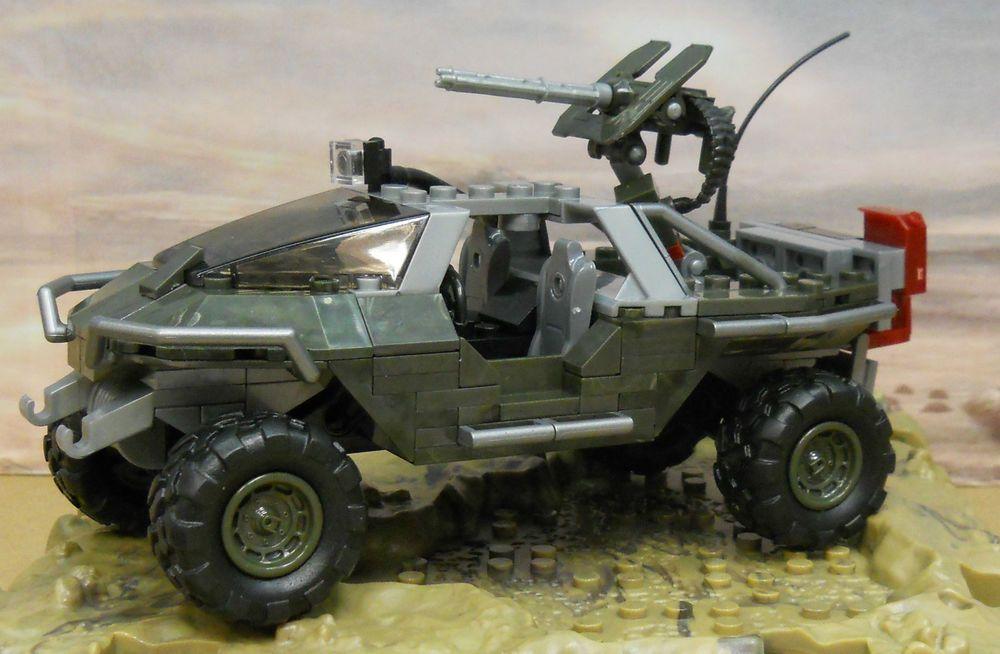 HALO Mega Bloks UNSC WARTHOG spartan vehicle H4 #MegaBloks
