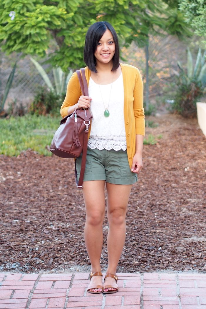 Lace and Cargo Putting Me Together | Mustard cardigan
