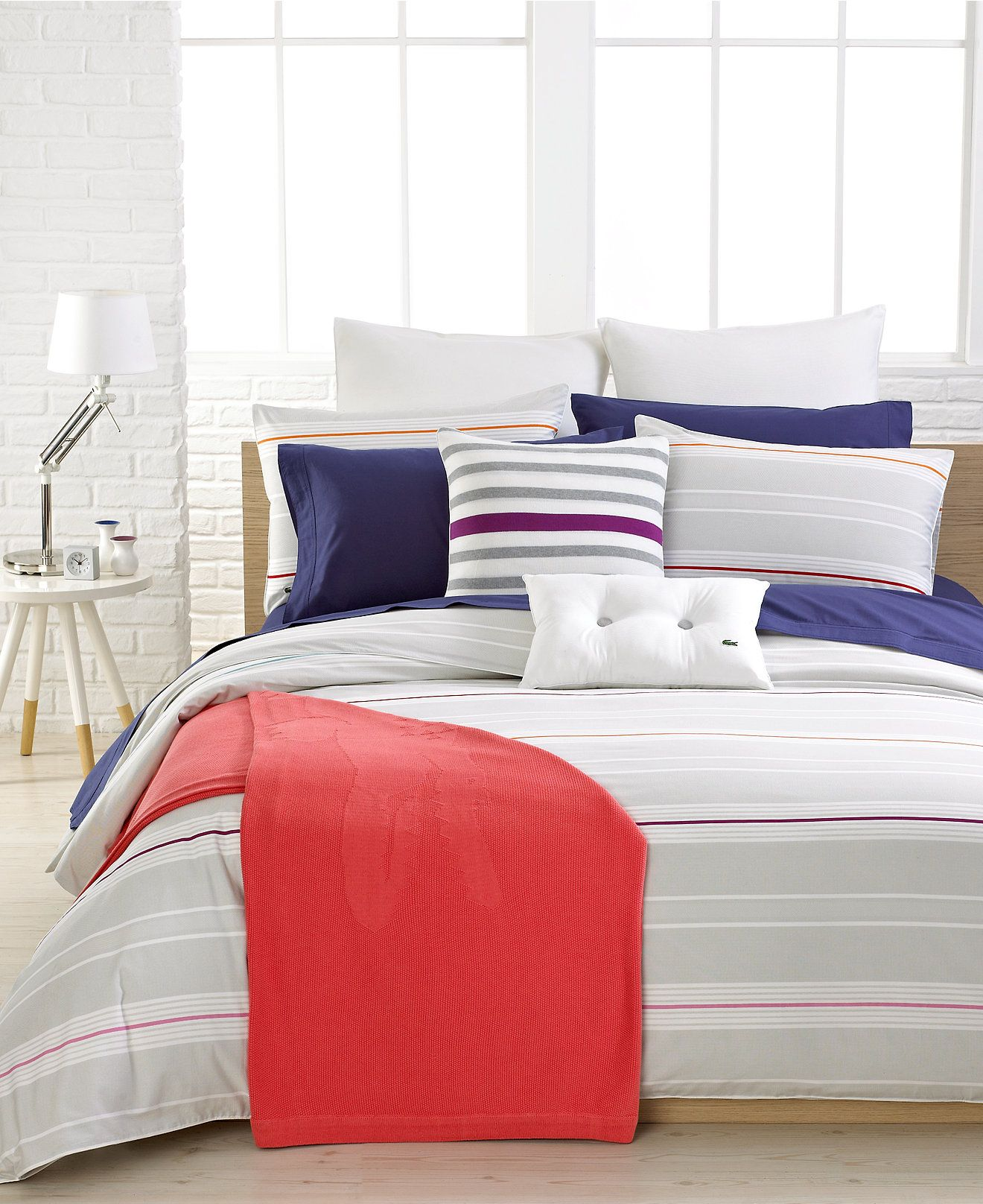 CLOSEOUT! Lacoste Fermat Comforter and Duvet Cover Sets