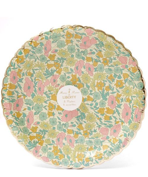 LIBERTY OF LONDON POPPY u0026 DAISY SMALL PAPER PLATES - by Meri Meri Bonjour Fête boutique  sc 1 st  Pinterest & LIBERTY OF LONDON POPPY u0026 DAISY SMALL PAPER PLATES - by Meri Meri ...
