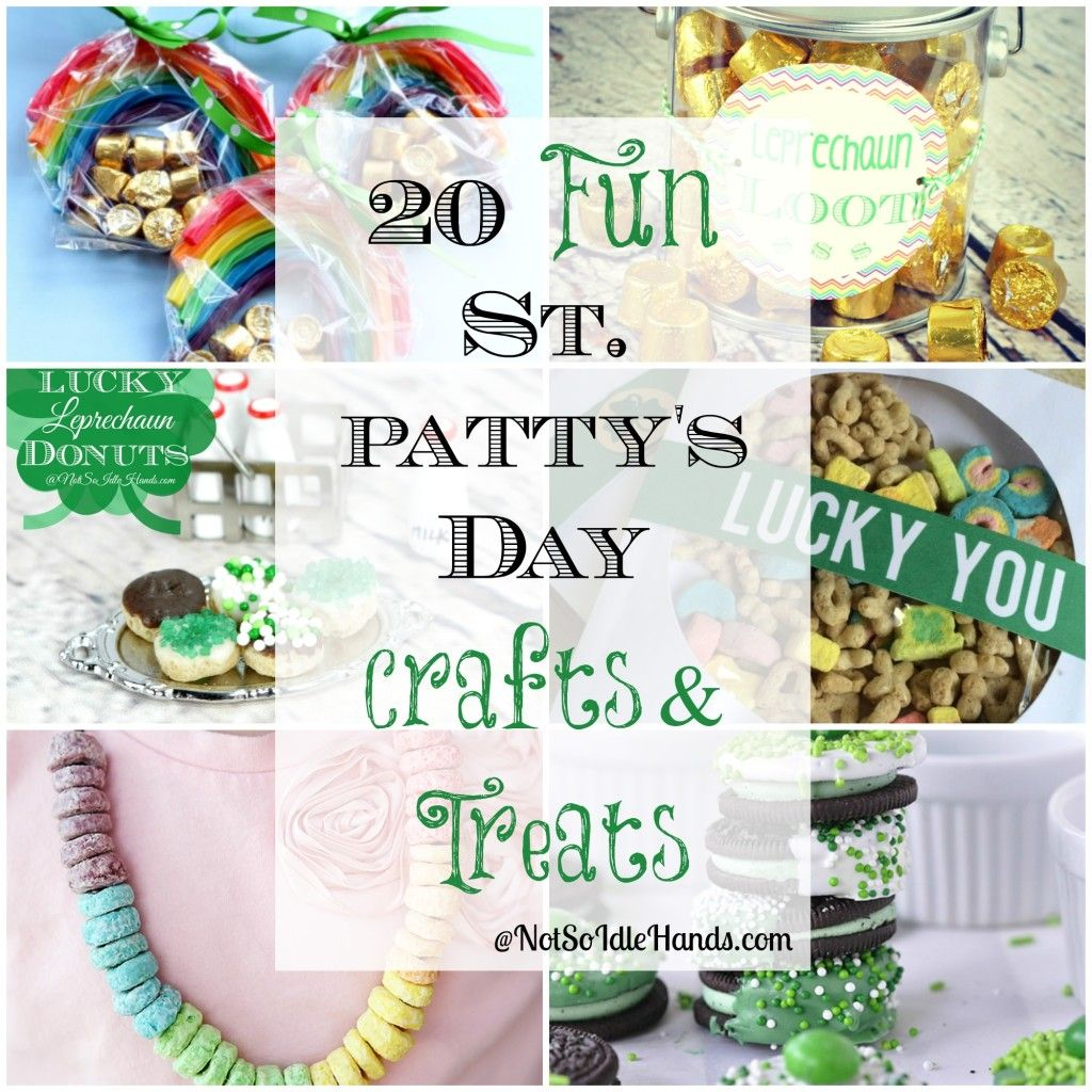 20 Fun St. Patrick's Day Crafts and Treats By NotSoIdleHands.com