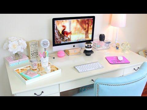 Desk Tour Office Tour How To Organize Your Desk Youtube Cute Desk Organization Diy Desk