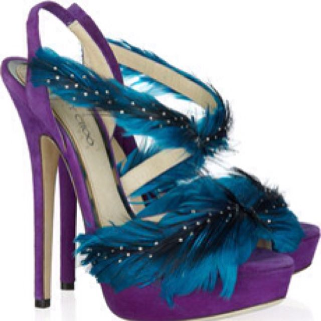 Marlene feather and suede sandals by Jimmy Choo