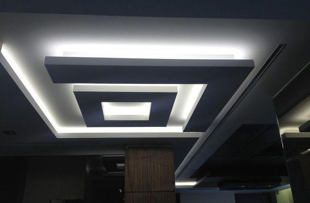 Plaster Of Paris Design Ideas For Living Room False Ceiling Designs Luces De Techo Pinterest