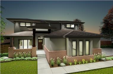 Prairie House Plan 4 Bedrms 2 5 Baths 2363 Sq Ft 100 1281 In 2020 Prairie Style Houses Prairie House House Plans
