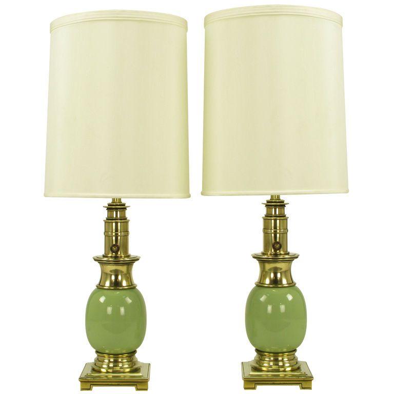 Pair stiffel brass sage porcelain ostrich egg table lamps pair stiffel brass sage porcelain ostrich egg table lamps aloadofball Gallery