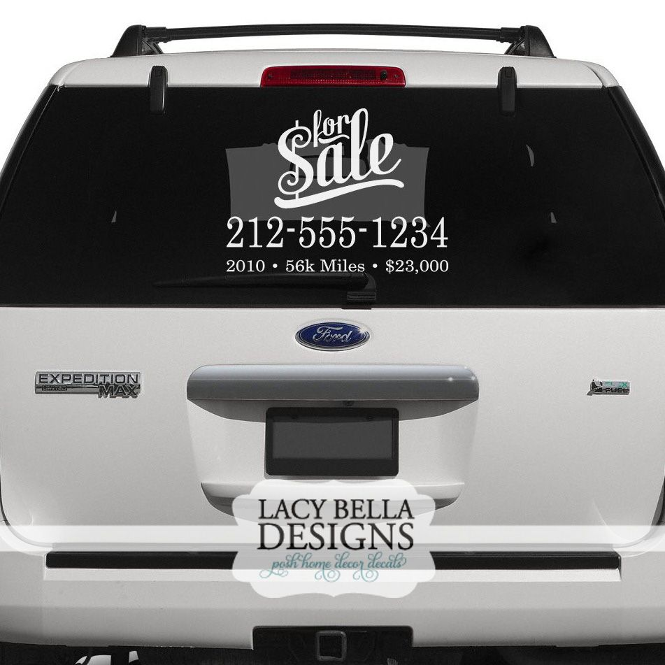 """For Sale"" When it comes to selling your vehicle, image is"