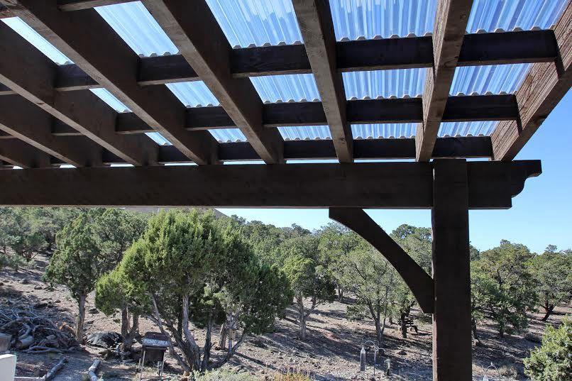 Cedar City Attached Pergola with Translucent Corrugated Roof