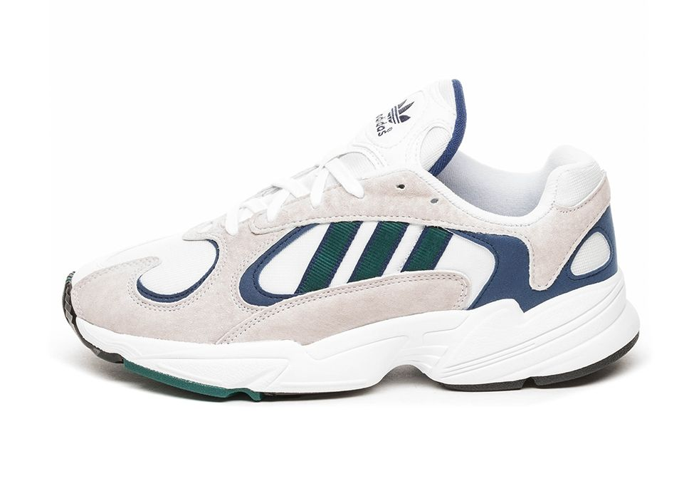adidas Yung 1 (Ftwr White Noble Green Dark Blue