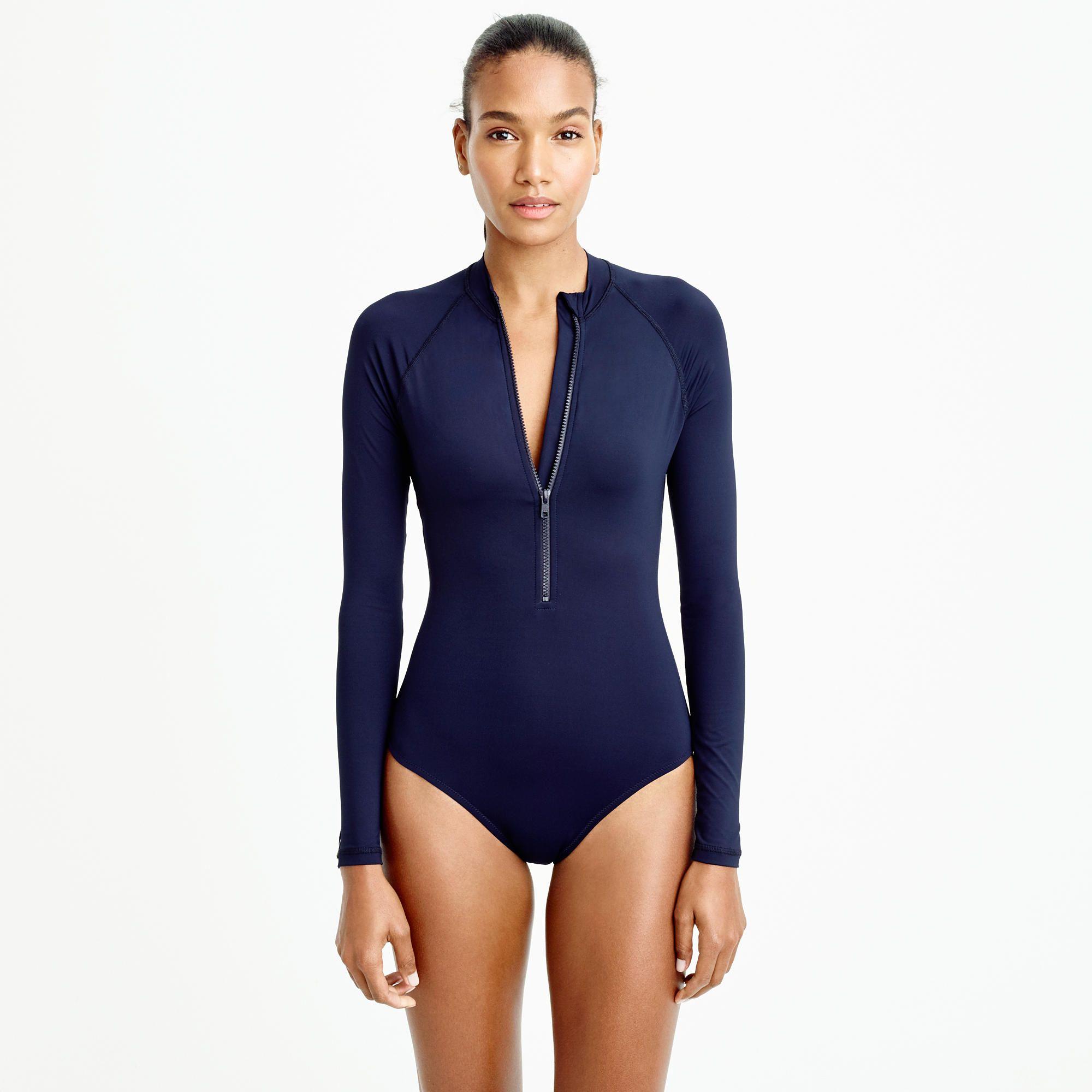 Zip- Long-sleeve Swimsuit T- . . T