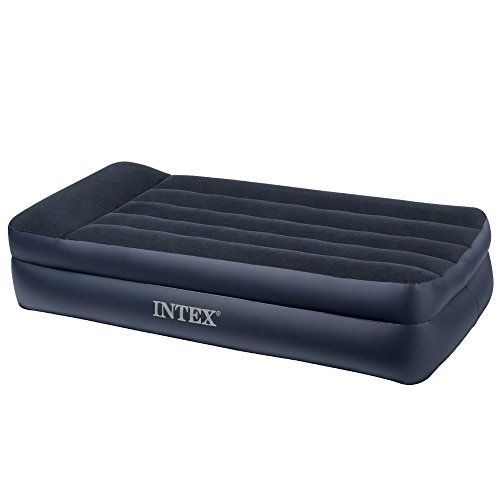 Intex Twin Pillow Rest Classic Bed With Electric Pump For Guest Height 165 Two Pack 2 Check Out The Image By Vis Air Mattress Camping Air Bed Inflatable Bed