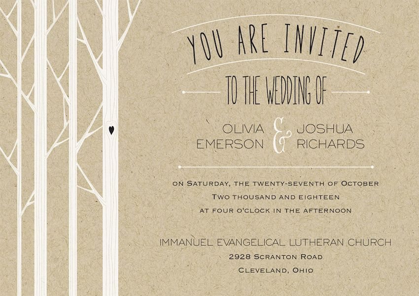 Festive Fall Wedding Invitations for Autumn Celebrations ...