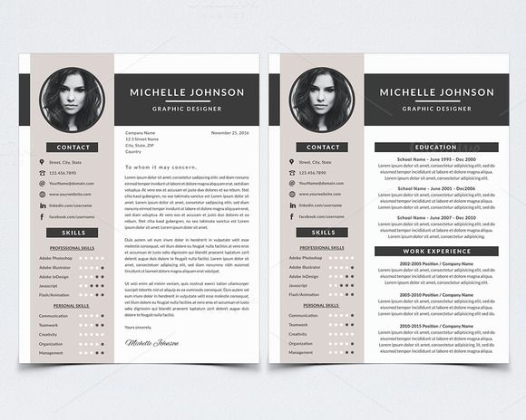 resume template for photoshop  creativework247