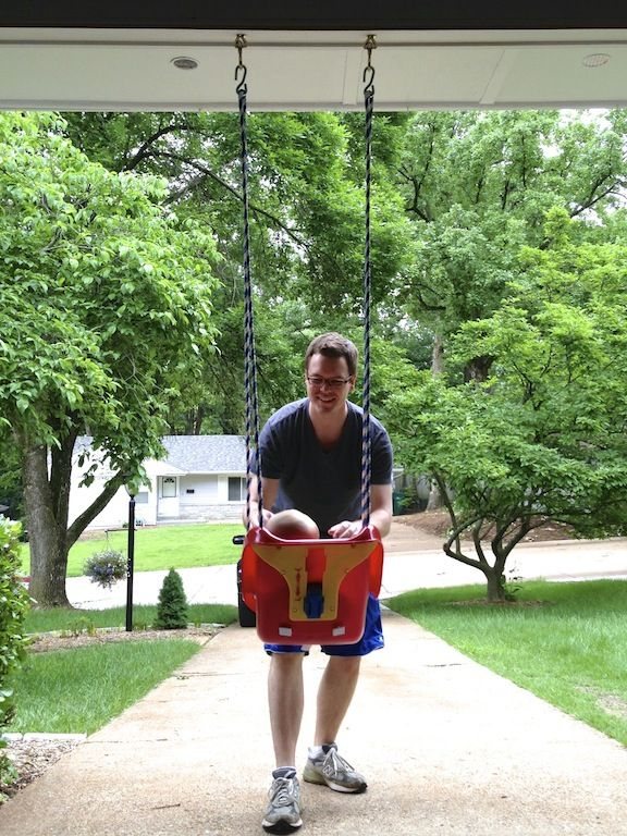 Garage Baby Swing How To Install A Toddler Swing In Your Garage When You Re Not Yet Ready To Commit To A Full Swing S Baby Swings Toddler Swing Outdoor Baby