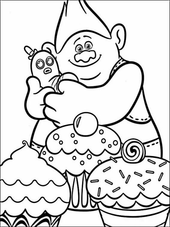Trolls Coloring Pages 3 Poppy Coloring Page Cupcake Coloring