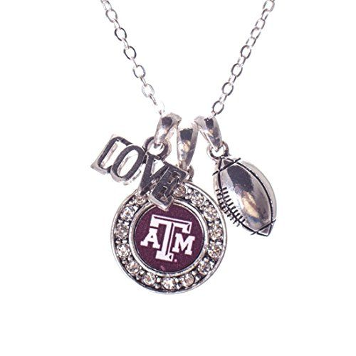 FTH Texas A/&M Aggies Crystal Jewelry Combo Bracelet, Necklace, Earrings