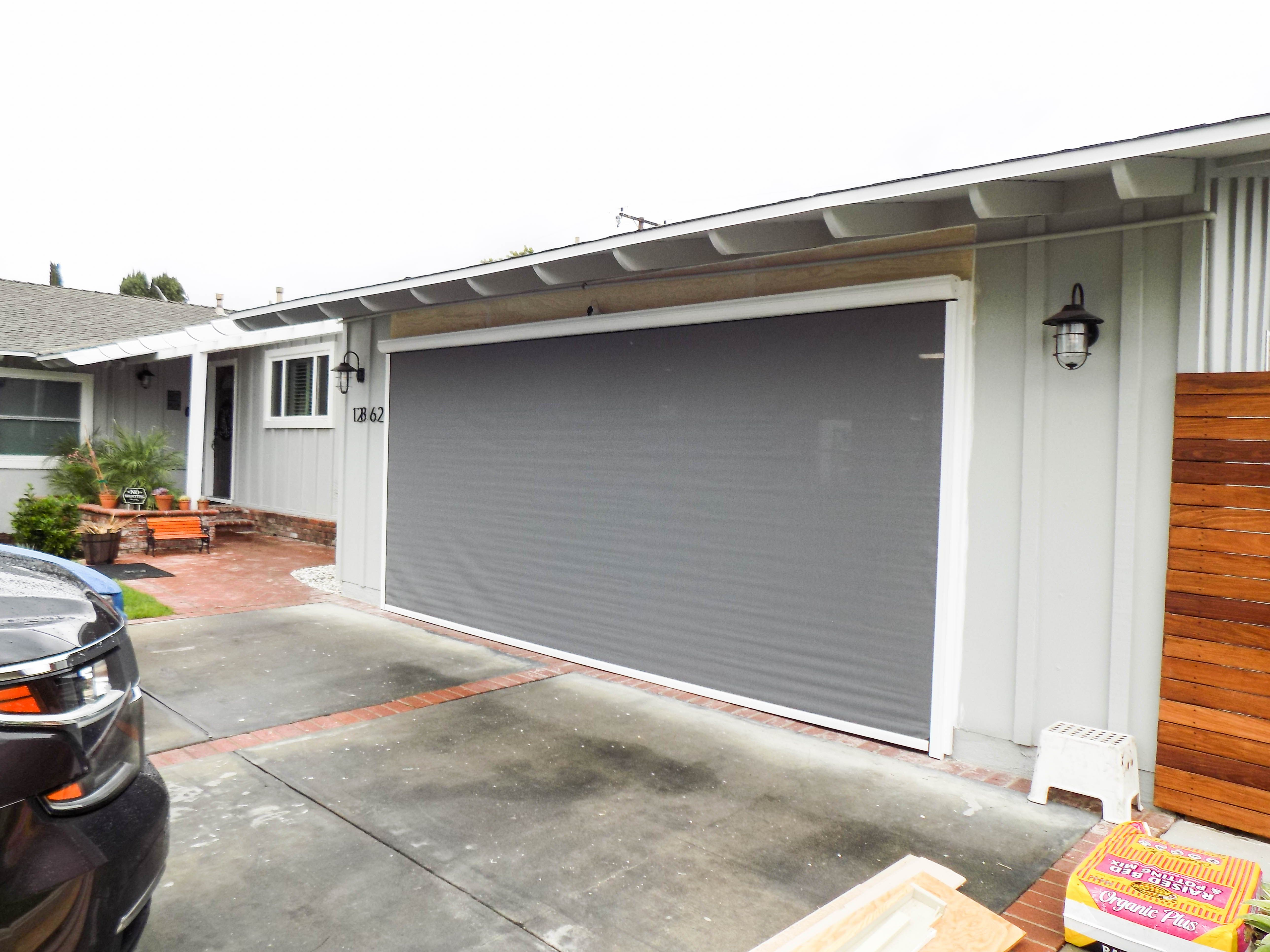 Leave Your Garage Door Open Without Compromising Your Privacy A Custom Built Motorized Power Screen Will Palos Verdes Estates Rancho Palos Verdes Garage Doors