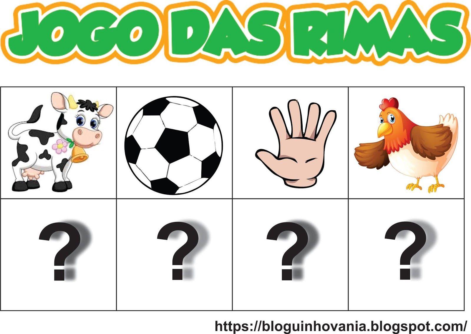Bloguinho Da Vania Jogo Das Rimas Rimas Infantis Alfabetizacao Online Rimas