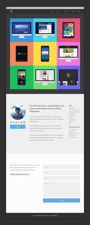 Responsive Portfolio Website by Redel Bautista, via Behance