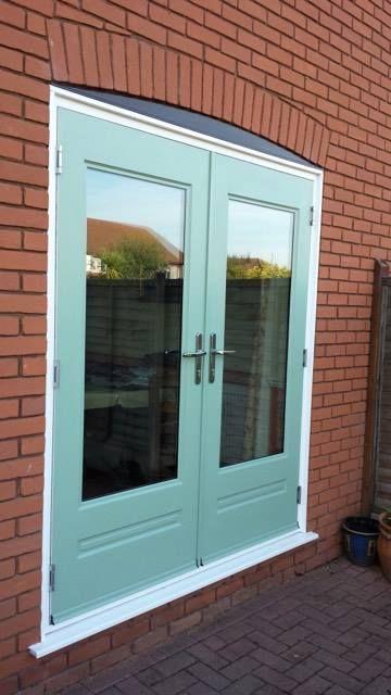 Chartwell Green Rockdoor composite French doors. Front Door Ideas ...