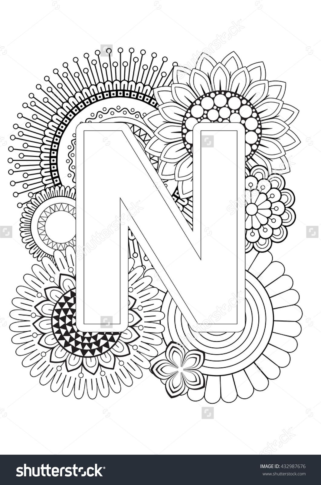 Doodle floral letters coloring book for adult mandala and doodle floral letters coloring book for adult mandala and sunflower abc book thecheapjerseys Choice Image