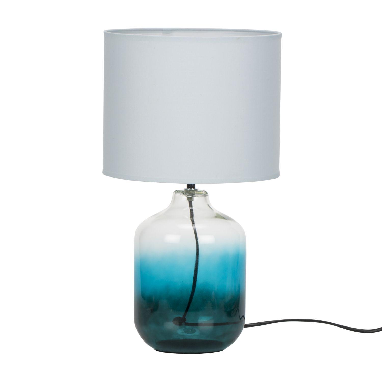 Blue glass table lamps  Blue Glass Table Lamp  interiors  Pinterest  Glass table lamps
