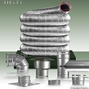 316Ti Chimney Ch&ion Easy Flex Chimney Liner Kit - 3  & 316Ti Chimney Champion Easy Flex Chimney Liner Kit - 3