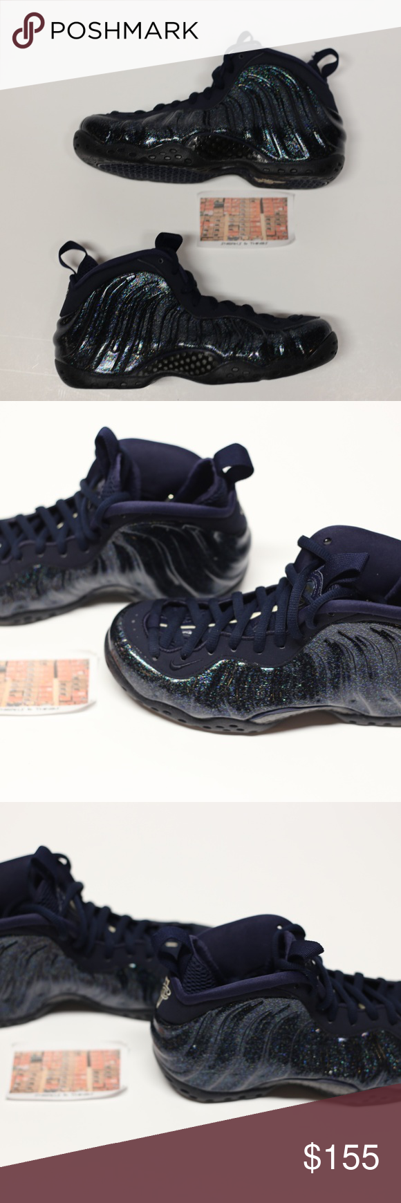 Nike Air Foamposite One Prm Triple Black 2014 Gs Grailed