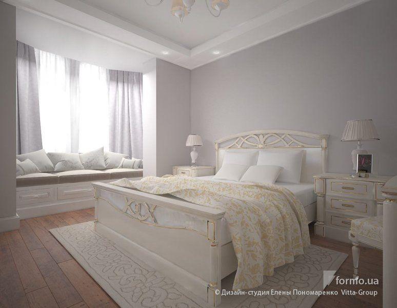 Французская легкость, Дизайн-студия Елены Пономаренко Vitta-Group, Спальня, Дизайн интерьеров Formo.ua