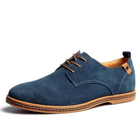 iLoveSIA Zapatos de Cuero de Gamuza Oxford de Hombre Negro(2017 Nuevo Diseño) 41 EU pB9Wi