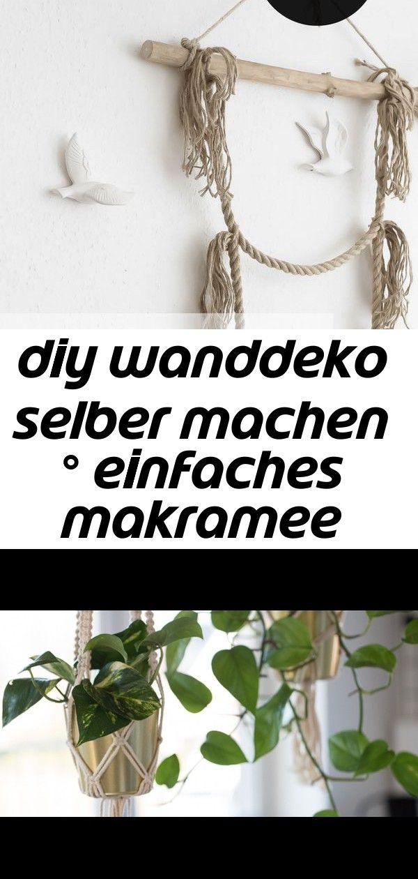 Diy wanddeko selber machen ° einfaches makramee wall hanging 23 #wanddekoselbermachen