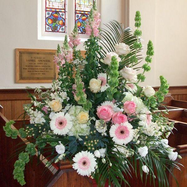 White Wedding Altar Flowers: Church Wedding Decorations - Altar Flowers Spray