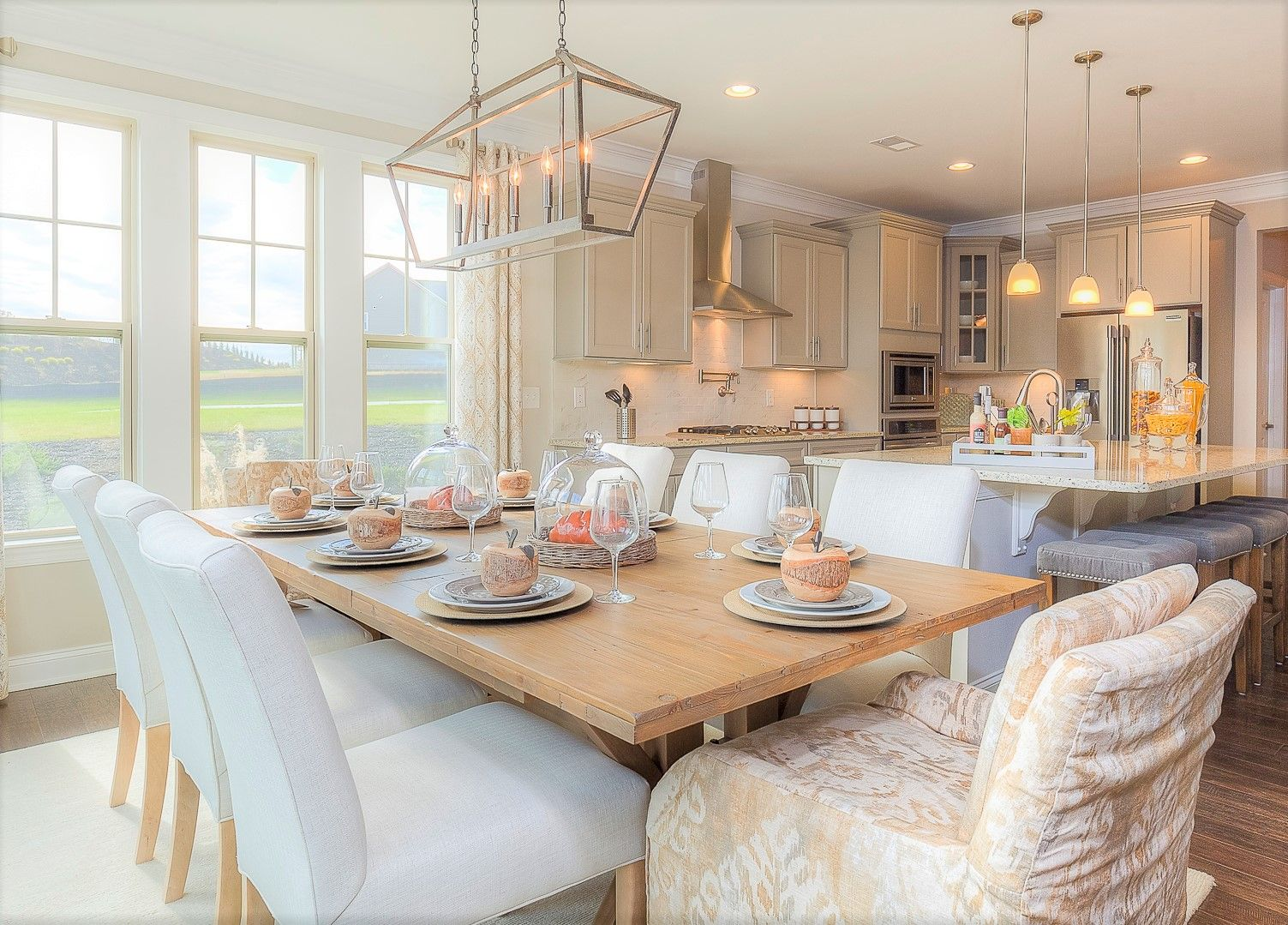 Soft Neutral tones in a formal dining room   Dining ...