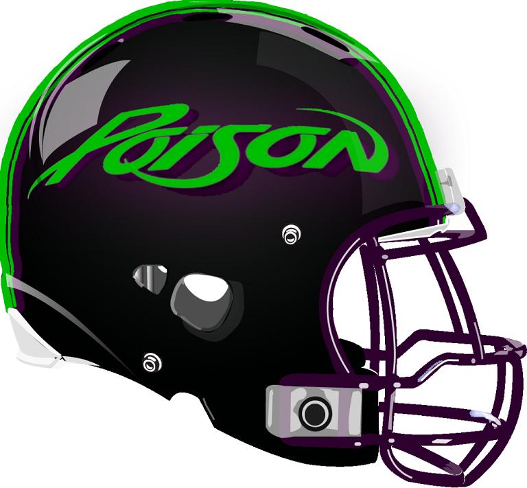 Poison Helmet from a Fantasy Football League