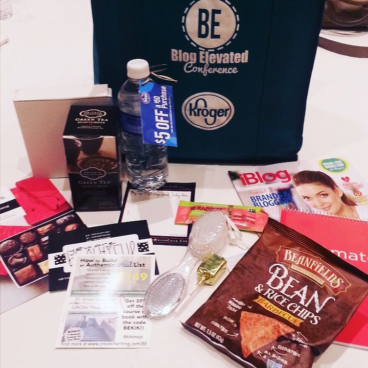 Look at some of my swag from #blogelevated thanks so much!!! by outgoinglady1