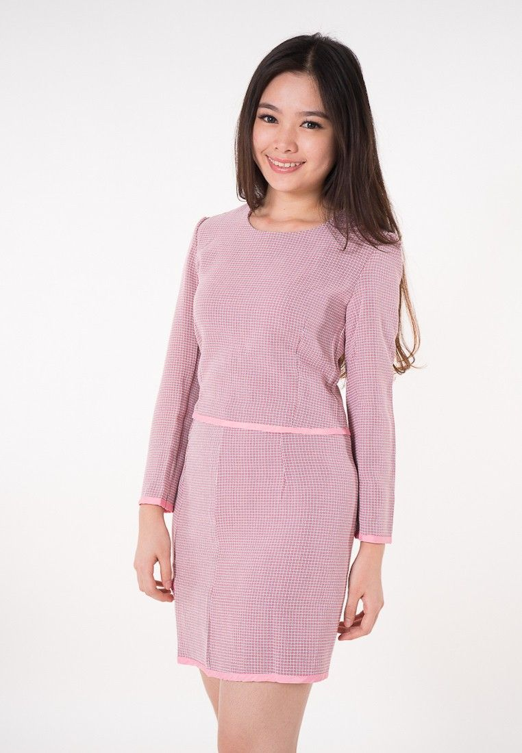b6c0c480d8053 Junno One Set Check Dress I Beli di ZALORA Indonesia ®