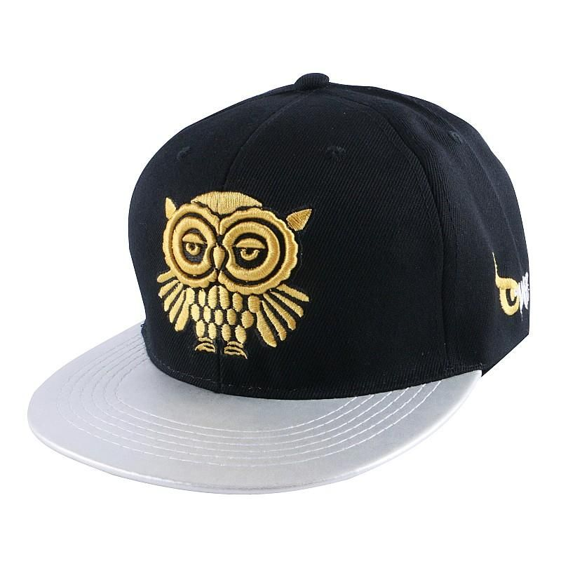 13b9a9a1019 Embroidery Gold Owl Baseball Cap in 2019